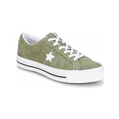 Converse ONE STAR OX women's Shoes (Trainers) in Green