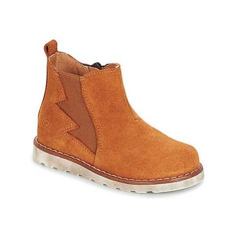 Citrouille et Compagnie HISSA boys's Children's Mid Boots in Brown