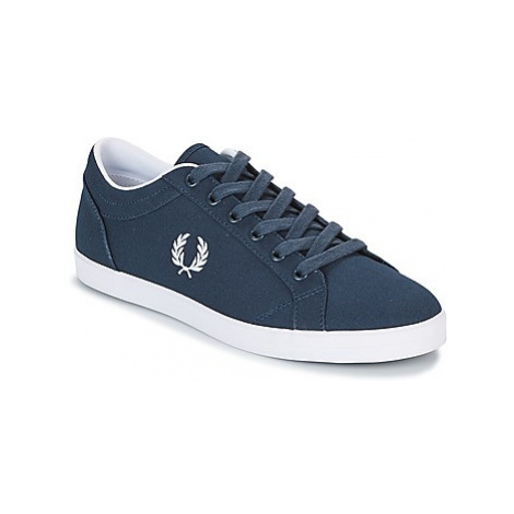 Fred Perry BASELINE CANVAS men's Shoes (Trainers) in Blue