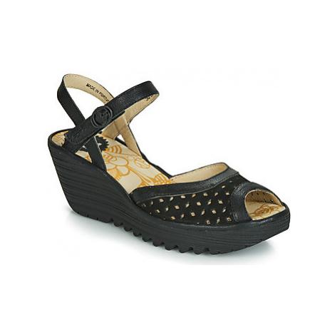 Fly London YUMO women's Sandals in Black