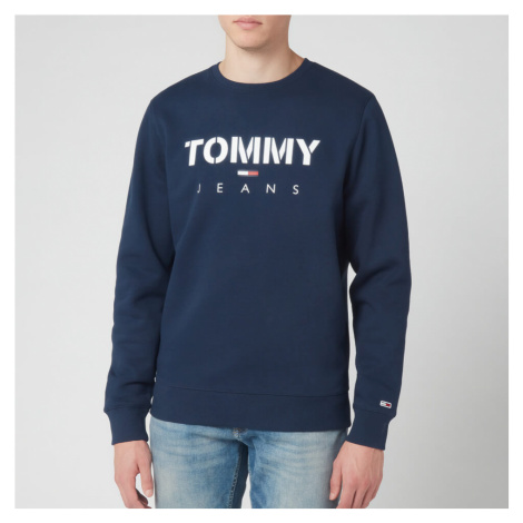 Tommy Jeans Men's Novel Logo Sweatshirt - Black Iris Tommy Hilfiger