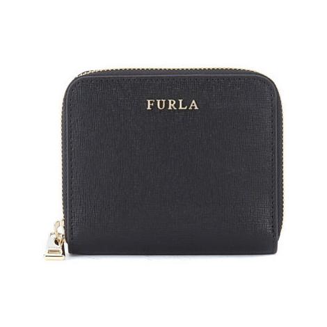 Furla Babylon small black saffiano leather wallet men's Purse wallet in Black