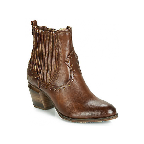 Mustang 1334502-301 women's Low Ankle Boots in Brown