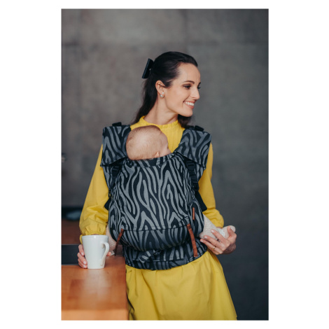 Baby Carrier - Be Lenka 4ever Neo - Zebra - Grey wide with the possibility of crossing