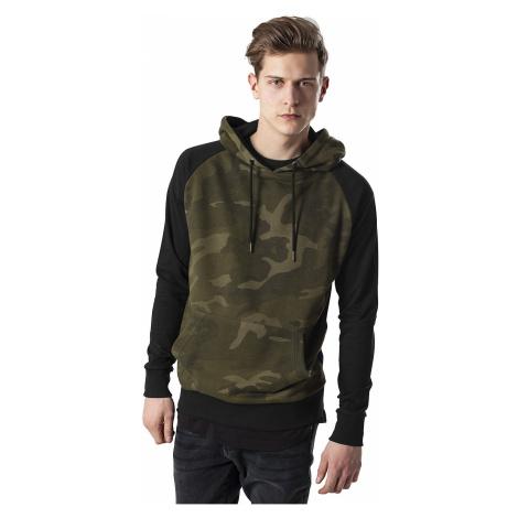 sweatshirt Urban Classics Camo Contrast Raglan/TB1647 - Olive Camo/Black