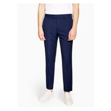 Mens Blue Two Tone Skinny Fit Suit Trousers, Blue Topman