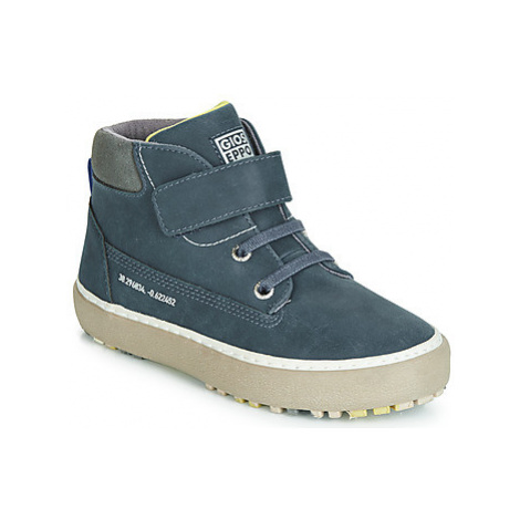 Gioseppo LUCKA boys's Children's Shoes (High-top Trainers) in Blue