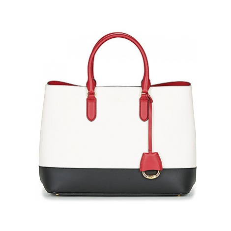 Lauren Ralph Lauren MARCY SATCHEL LARGE women's Handbags in White