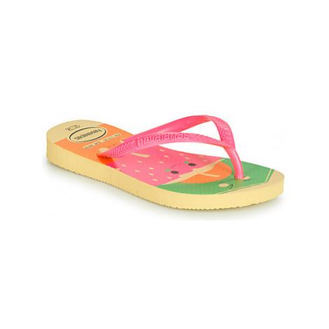 Havaianas KIDS SLIM FUN girls's Children's Flip flops / Sandals in Multicolour