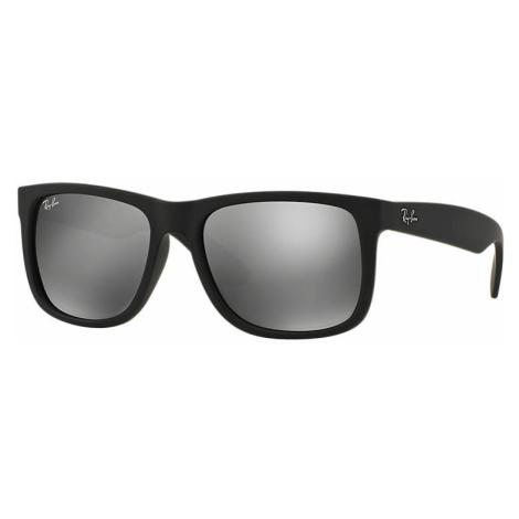 Ray-Ban Justin color mix Unisex Sunglasses Lenses: Gray, Frame: Black - RB4165 622/6G 51-16