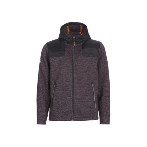 Superdry MOUNTAIN ZIPHOOD men's Sweatshirt in Black