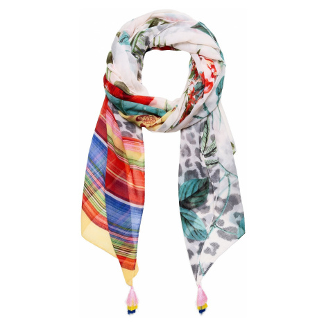 shawl Desigual 19SAWF88/Clio - 1002/Crudo V - women´s