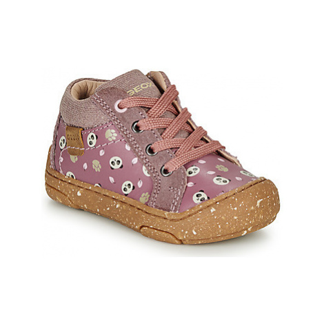 Geox B JAYJ GIRL girls's Children's Shoes (High-top Trainers) in Pink