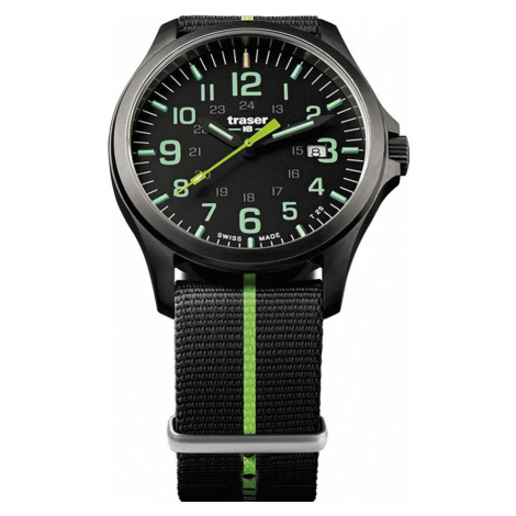 Traser H3 Watch Active Lifestyle P67 Officer Pro GunMetal Black/Lime