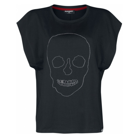 Rockupy Stone Skull Top black