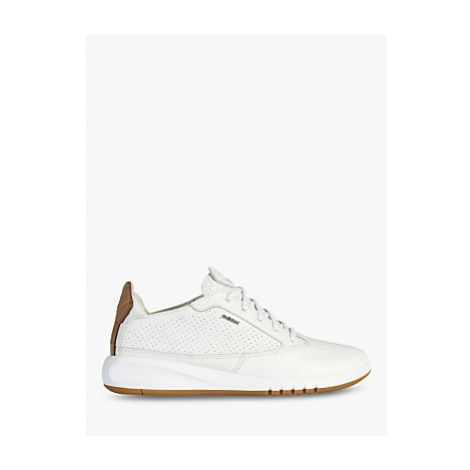 Geox Aerantis Leather Trainers, White