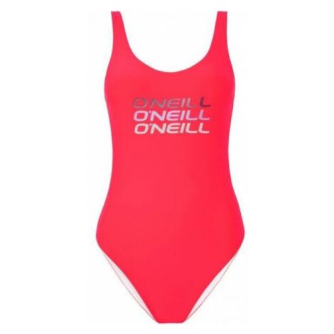 O'Neill PW LOGO TRIPPLE SWIMSUIT pink - Women's one-piece swimsuit