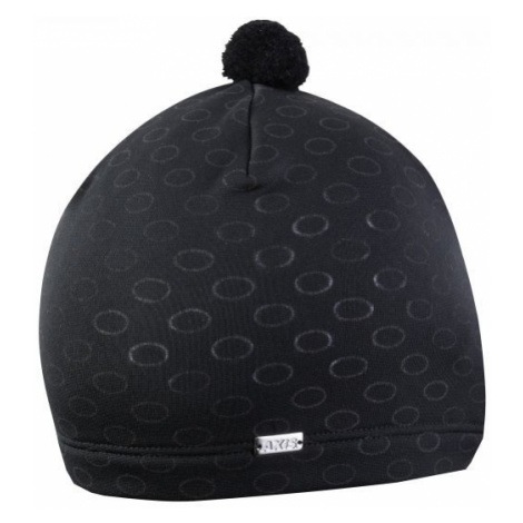 Axis BOBBLE HAT WITH REFLECTIVE ELEMENTS black - Hat with reflective elements