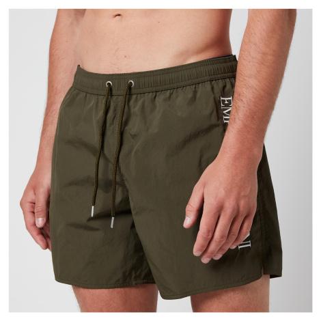 Emporio Armani Men's Boxer Swim Shorts - Green