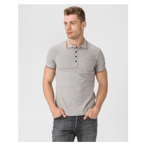 Diesel T-Randy-Broken Polo Shirt Grey