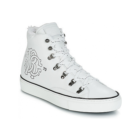 Roberto Cavalli MIKE men's Shoes (High-top Trainers) in White