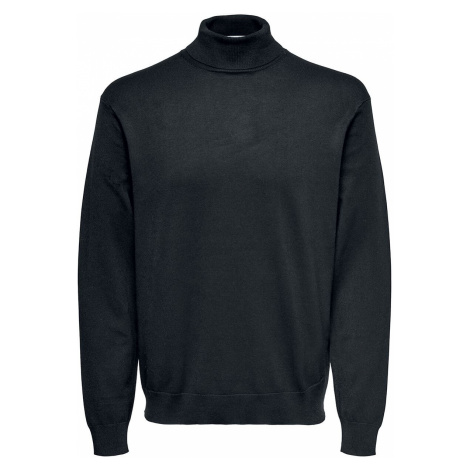 ONLY and SONS Wyler Life Roll Neck Knit Sweatshirt black Only & Sons
