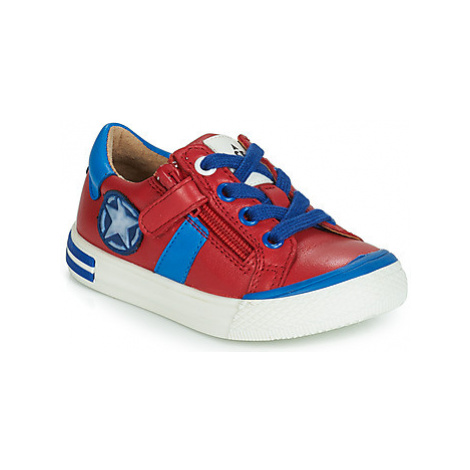 Acebo's TIMOTI boys's Children's Shoes (Trainers) in Red