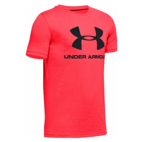 Under Armour SPORTSTYLE LOGO SS orange - Boys' T-shirt