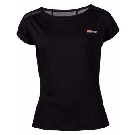 Fitforce CLAVI black - Women's fitness T-shirt