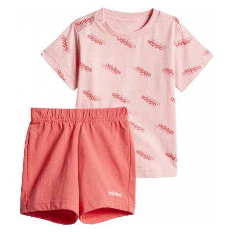 adidas I FAV SS SET pink - Children's tracksuit set