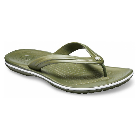 flip flops Crocs Crocband Flip - Army Green/White