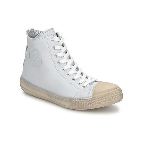 Hip LOUGO girls's Children's Shoes (High-top Trainers) in White