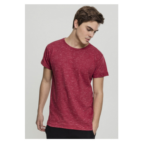 Urban Classics Space Dye Turnup Tee red/wht