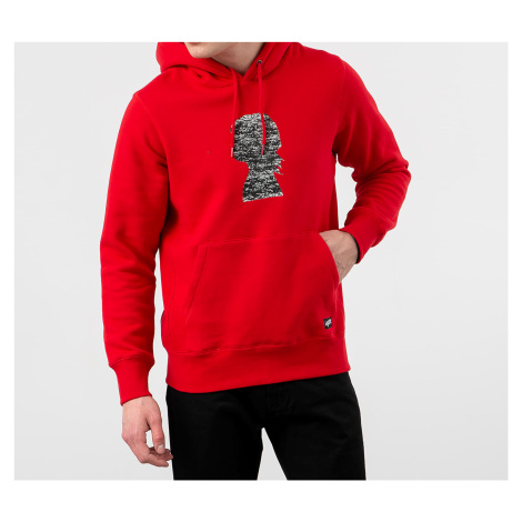 Red men's sports pullover sweatshirts and hoodies