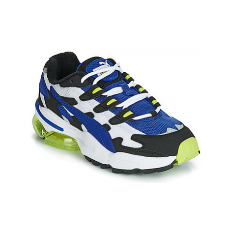 Blue girls' sports shoes