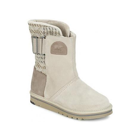 Sorel THE CAMPUS women's Mid Boots in Beige