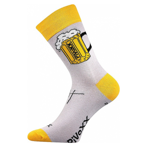 socks Voxx Pivoxx - Light Gray/Yellow