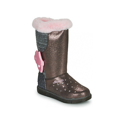 Skechers GLITZY GLAM girls's Children's Mid Boots in Pink