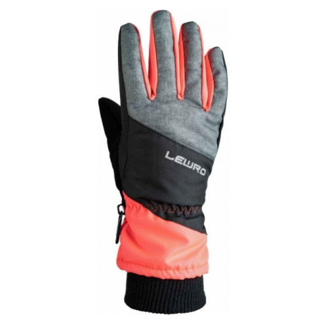 Lewro PIRUZ orange - Kids' ski gloves