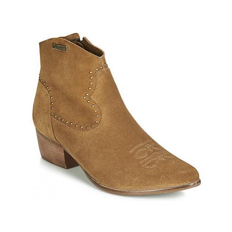 Les Tropéziennes par M Belarbi ASTRID women's Low Ankle Boots in Brown