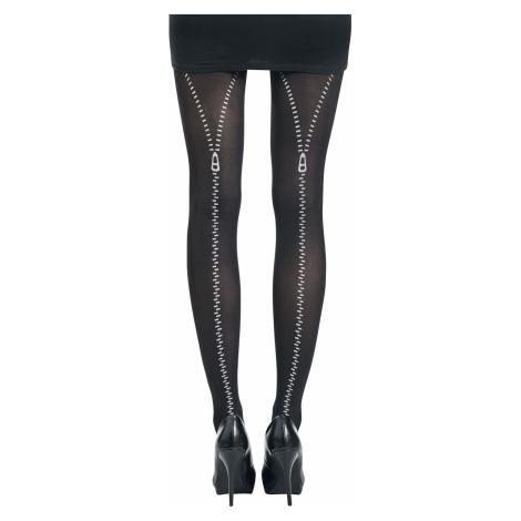 Pamela Mann Flocked Zip Tights black