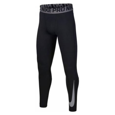 Nike NP THERMA TIGHT GFX B black - Boys' training tights