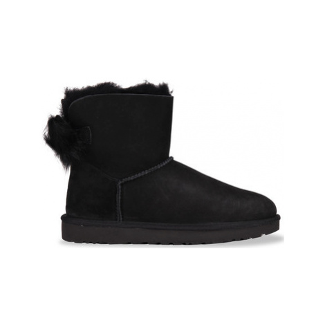 UGG Fluff Bow Mini Black women's Snow boots in Black