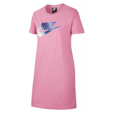 Nike NSW TSHIRT DRESS FUTURA G pink - Girls' dress