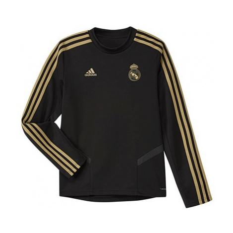 Real Madrid LS Training Top - Black - Kids Adidas