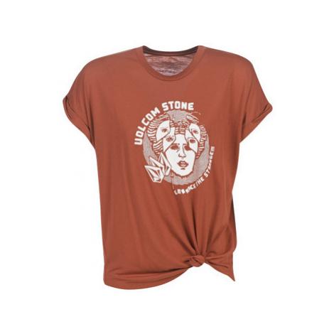 Volcom BREAKNOT SS women's T shirt in Brown