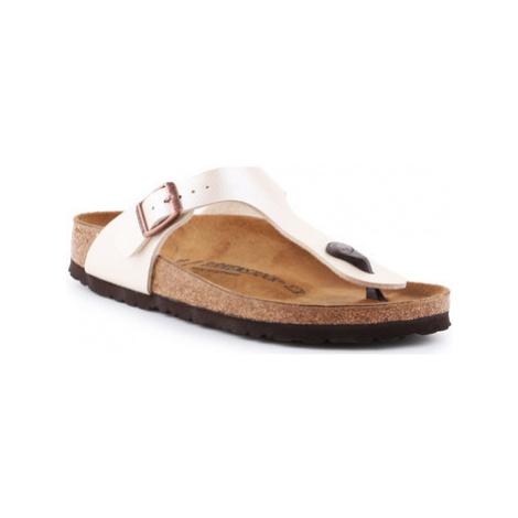 Birkenstock Gizeh BS 0943873 women's Flip flops / Sandals (Shoes) in Beige