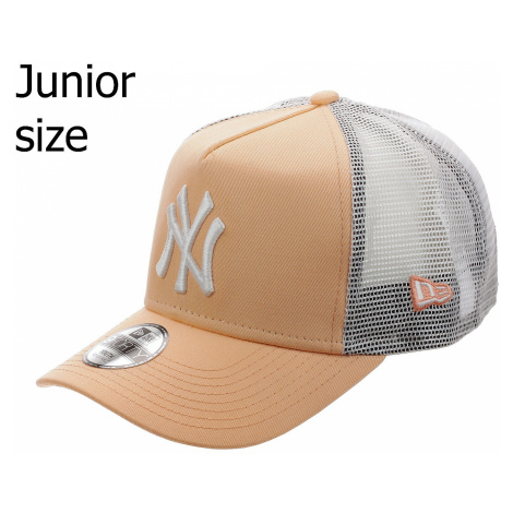 cap New Era 9FO Aframe Trucker MLB New York Yankees Youth - Peach/White - girl´s