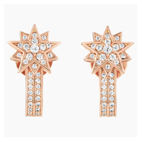 Penélope Cruz Moonsun Pierced Earring Jackets, Limited Edition, White, Rose-gold tone plated Swarovski