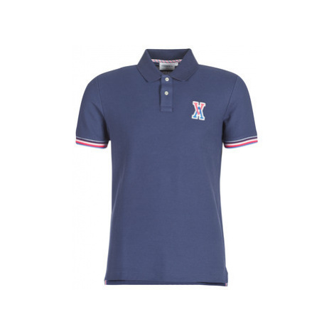 Vicomte A. PRESTON TRI COLLAR POLO men's Polo shirt in Blue